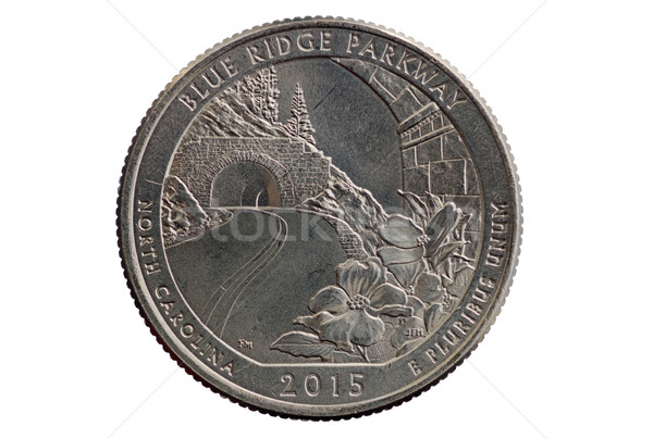 Blue Ridge Parkway Quarter Coin Stock photo © pancaketom