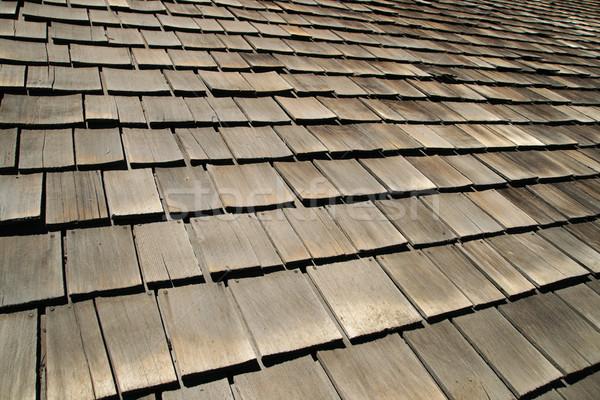 old wood roof shingles Stock photo © pancaketom