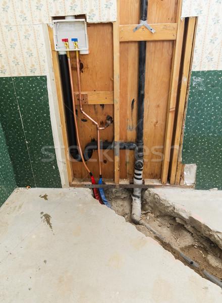 Rondella installazione home concrete trincea nuovo Foto d'archivio © pancaketom