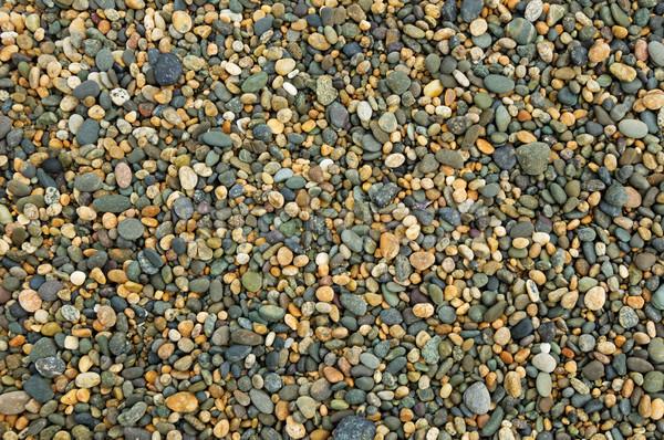 Kavics színes tengerpart Új-Zéland kő kövek Stock fotó © pancaketom