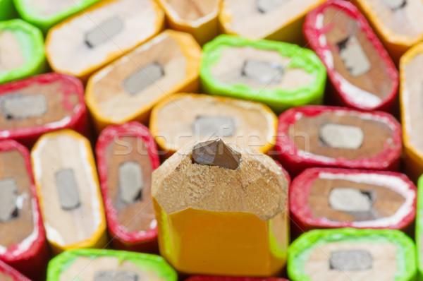 Uno carpintero lápiz muchos atención selectiva punto Foto stock © pancaketom