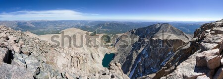 Crestone Peak Summit Panorama Stock photo © pancaketom