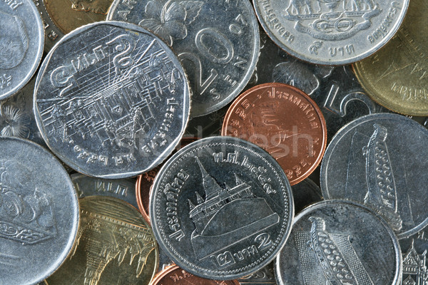Thailand and Malaysian coins Stock photo © pancaketom