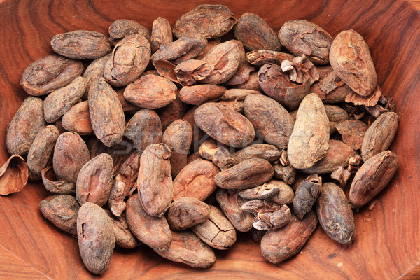 bowl of cocoa beans Stock photo © pancaketom