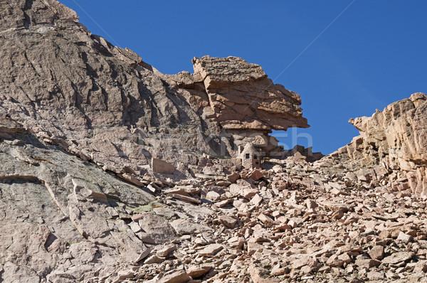 Buraco de fechadura montanha paisagem Foto stock © pancaketom