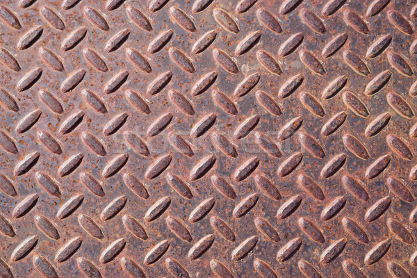 Rusty Diamond Tread Metal Background Stock photo © pancaketom