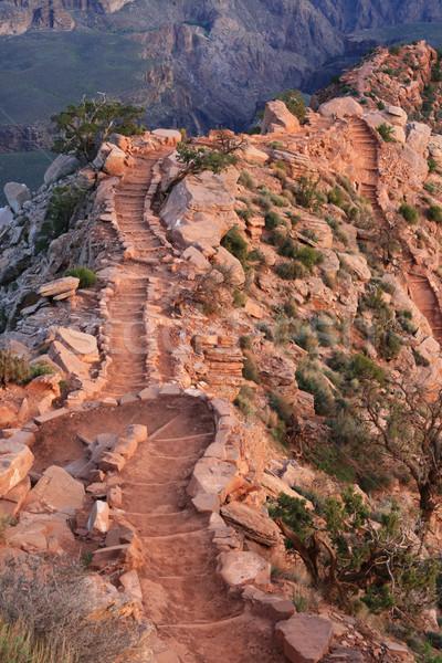 South Kaibab Trail steps Stock photo © pancaketom