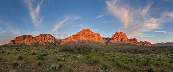 Red Rocks Sunrise Panorama Stock photo © pancaketom