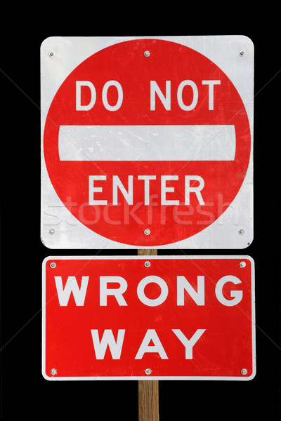 do not enter wrong way  Stock photo © pancaketom