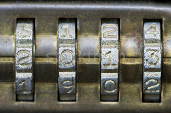 2013 on combination lock Stock photo © pancaketom