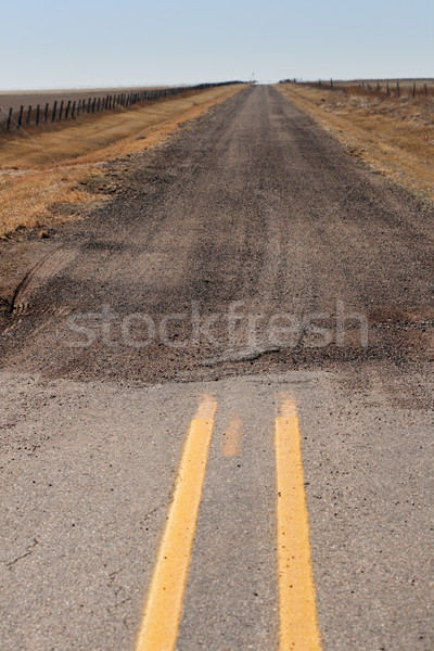 end of paved road Stock photo © pancaketom