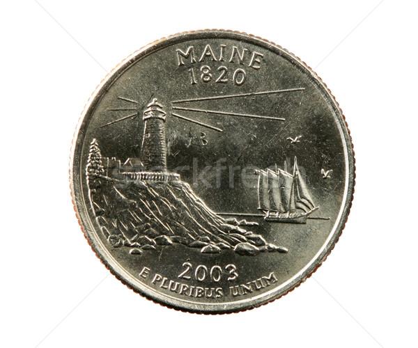 isolated Maine quarter Stock photo © pancaketom