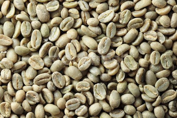Verde grão de café etíope orgânico fundo feijões Foto stock © pancaketom