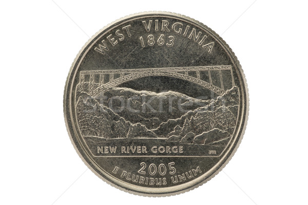 West Virginia State Quarter Coin Stock photo © pancaketom