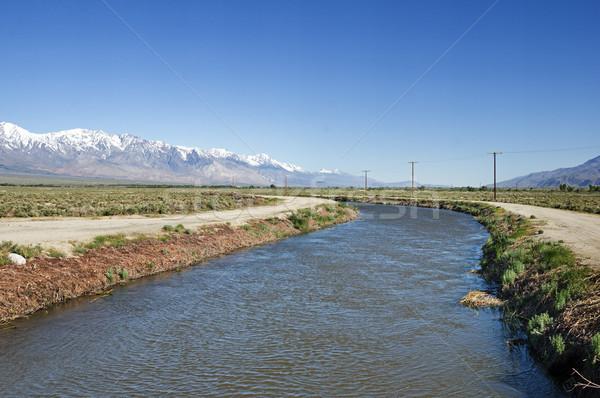 Los Angeles dolinie Nevada góry wody pustyni Zdjęcia stock © pancaketom