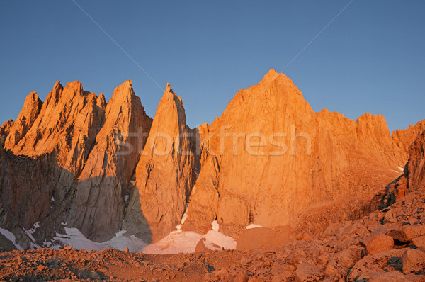 Mount Whitney At Sunrise Stock photo © pancaketom