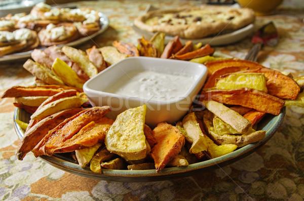 Home Made Sweet Potato Appetizer Stock photo © pancaketom