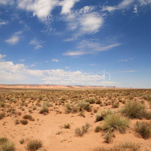 çöl manzara rezervasyon Arizona bulutlar Stok fotoğraf © pancaketom