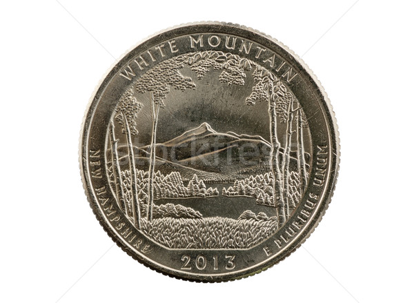 White Mountain Quarter Coin Stock photo © pancaketom