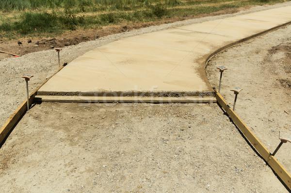 Beton építkezés Stock fotó © pancaketom