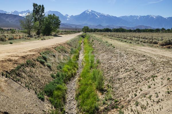 Vazio irrigação canal secar vale Foto stock © pancaketom