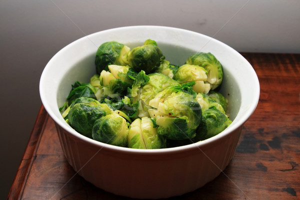 bowl of brussel sprouts Stock photo © pancaketom