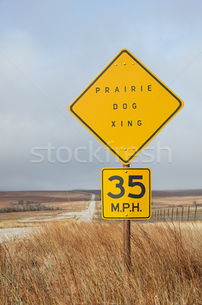 Prairie Dog Crossing Sign Stock photo © pancaketom