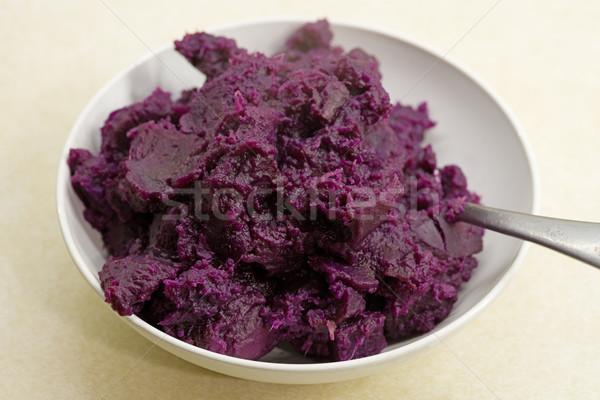 Bowl Of Mashed Purple Sweet Potatoes Stock photo © pancaketom