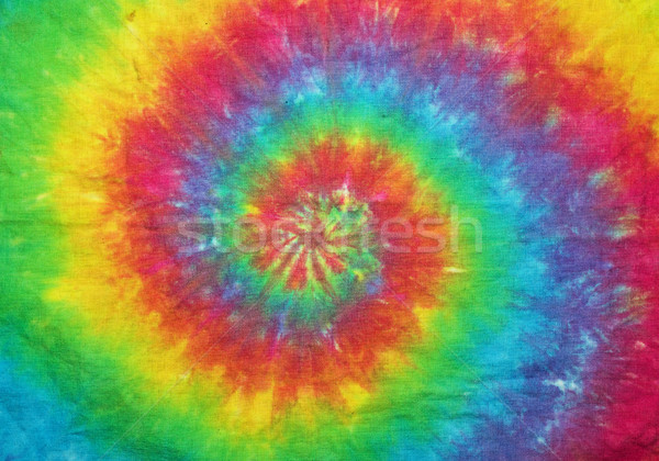 Tie Dyed Spiral Rainbow Stock photo © pancaketom