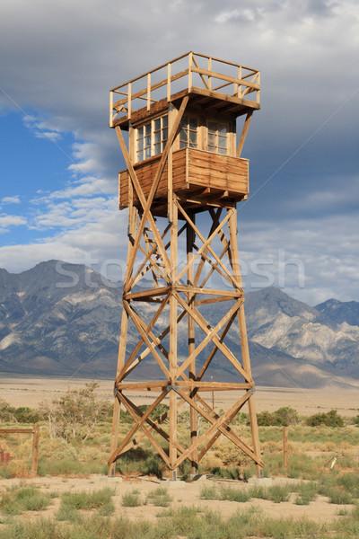manzanar guard tower Stock photo © pancaketom