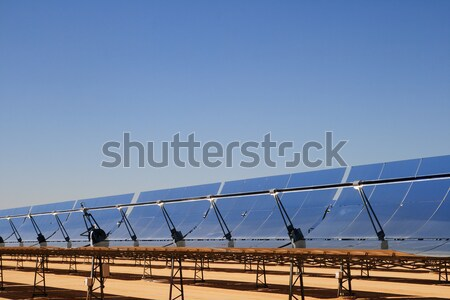 Stock photo: solar power thermal mirrors