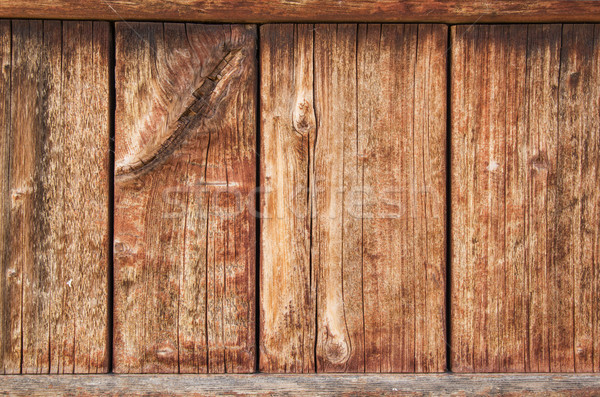 Old Weathered Wood Panel Stock photo © pancaketom