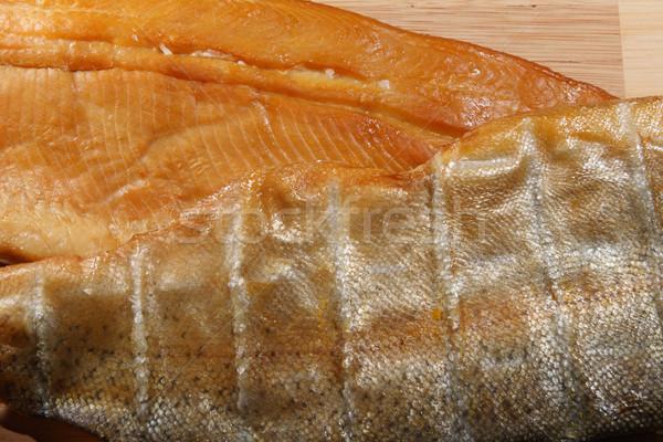 smoked trout closeup Stock photo © pancaketom