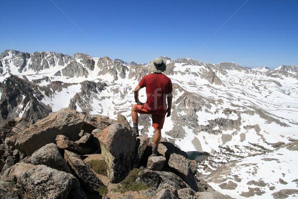 man on mountain top Stock photo © pancaketom