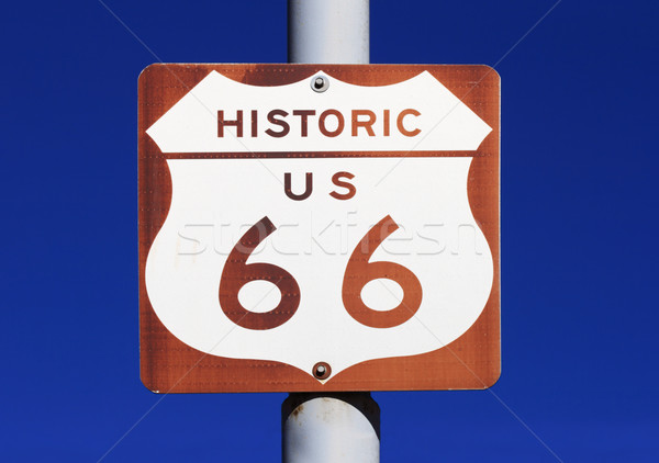 Stock photo: Historic US route 66 Sign