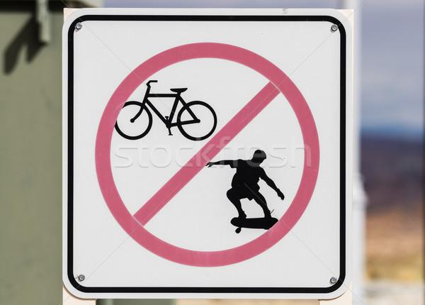 нет скейтбординга знак Сток-фото © pancaketom