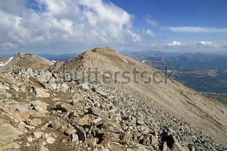 Csúcs panoráma Colorado tájkép hegyek Stock fotó © pancaketom