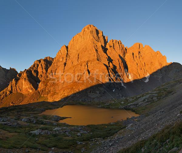 Crestone Peak In Early Morning Light Stock photo © pancaketom