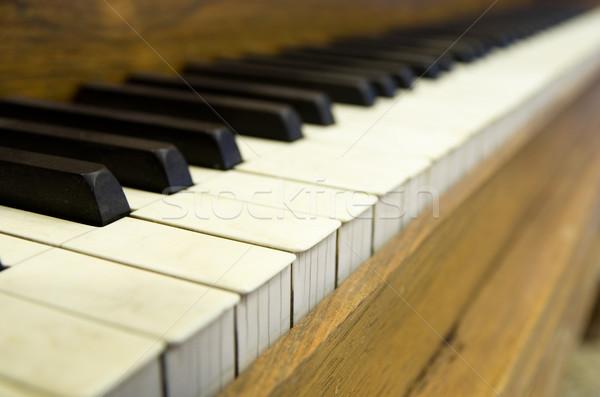 Stock photo: Old Piano Keys