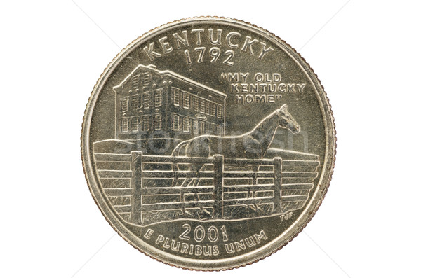 Kentucky State Quarter Coin Stock photo © pancaketom