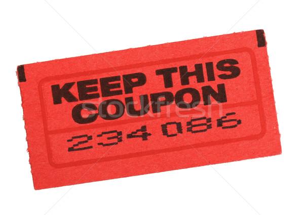 red coupon ticket Stock photo © pancaketom