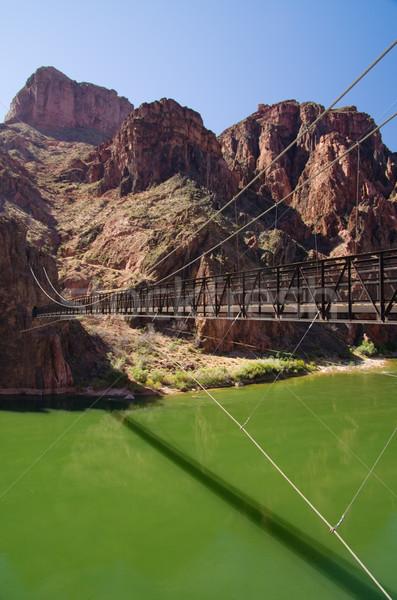 Nero ponte Grand Canyon Colorado fiume phantom Foto d'archivio © pancaketom