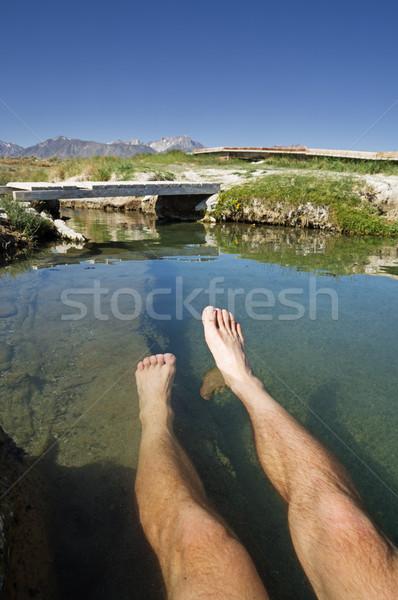 Benen thermisch bad Oost voorjaar voeten onderwater Stockfoto © pancaketom
