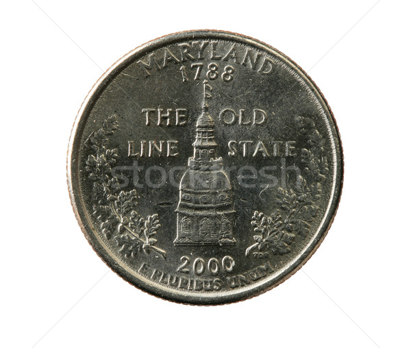 isolated Maryland quarter Stock photo © pancaketom