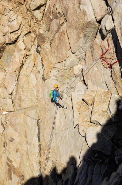Woman Rappelling Stock photo © pancaketom