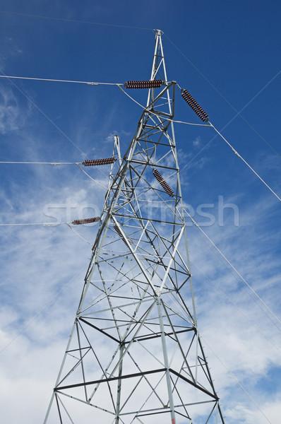 Stock fotó: Fém · elektromos · erő · vonal · torony · magas