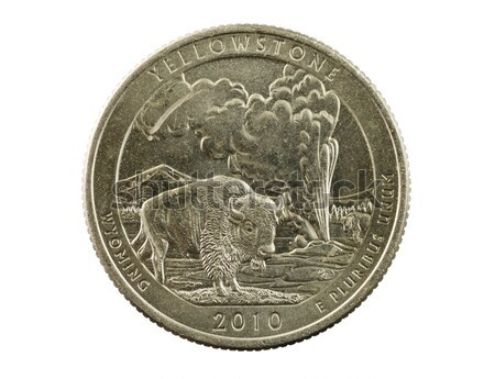 Yellowstone Wyoming Quarter Coin Stock photo © pancaketom