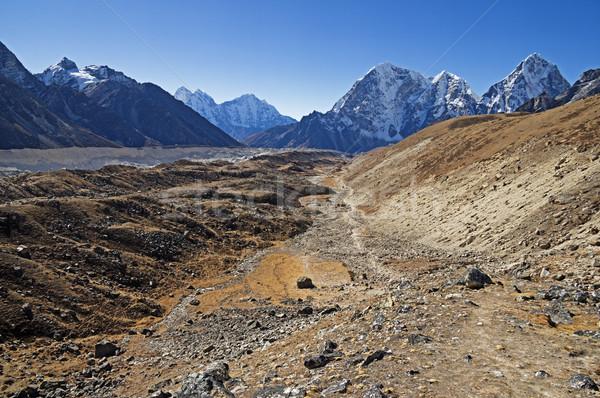 Khumbu Glacier Valley Stock photo © pancaketom