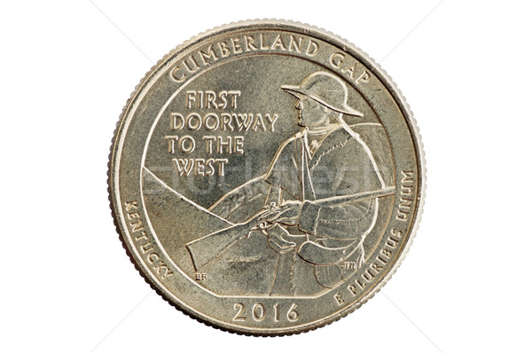 Cumberland Gap Kentucky Commemorative Quarter Coin Stock photo © pancaketom