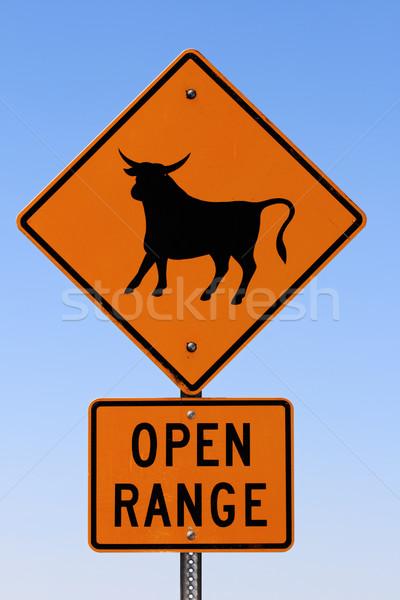 open range sign Stock photo © pancaketom